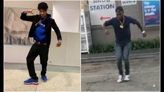 Blueface Vs Ot Genasis Crip Walking Dance Off! Who C Walks Better?