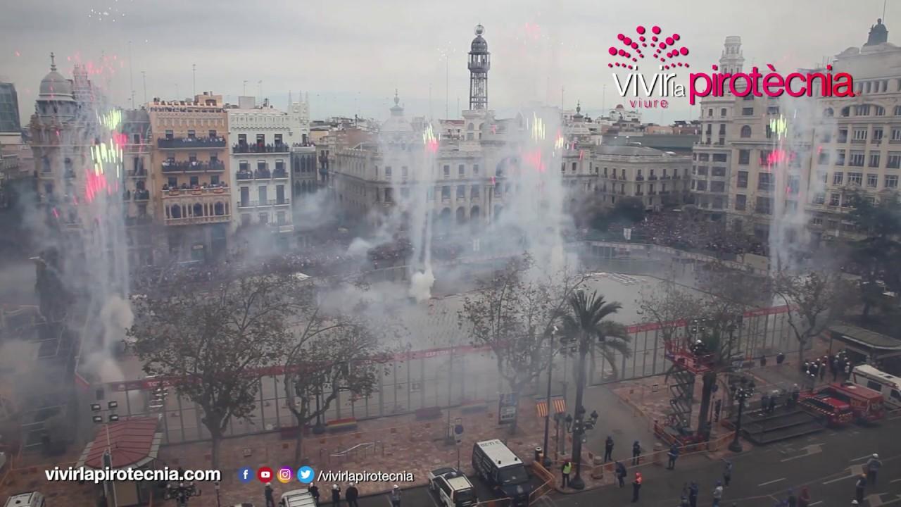 Fallas Valencia 2020. Mascletà Martes 10 de Marzo 2020. Pirotecnia Crespo