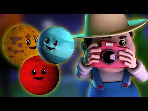 Песни планет | Песня солнечной системы | Узнать имена планет | Planets Song | 3D Baby Rhymes