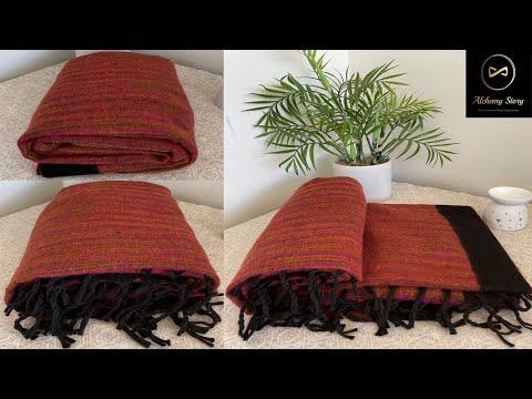 Tibetan Yak Wool Meditation Shawl Blanket Throw   Alchemy Story #shorts