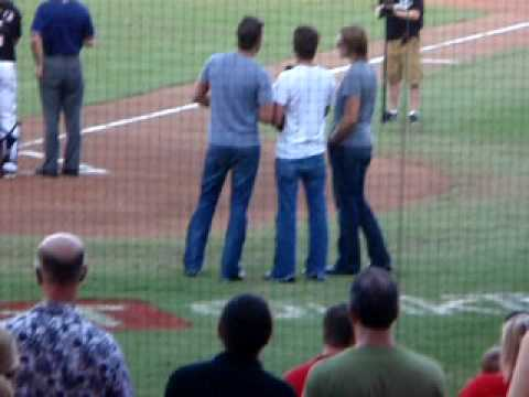 Love and Theft Sing National Anthem
