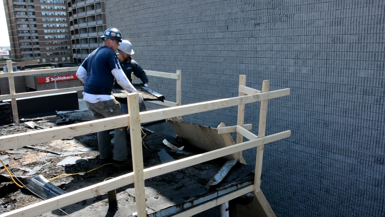 Sheet Metal Chute : Skyluxe roofing toronto commercial flat