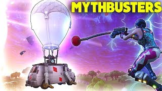 Can You Grapple Onto The GET AWAY VAN? | Grapple A ROCKET!? | *NEW* Grapple! | Fortnite Mythbusters