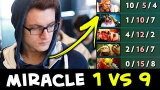 Miracle 1 vs 9 — that's impossible, whole team FEEDS