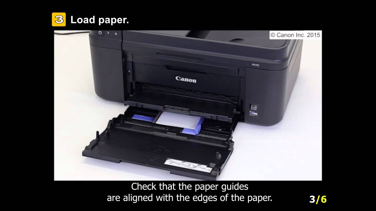 Pixma Mx490 Loading The Paper Youtube
