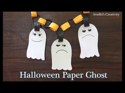 DIY Halloween paper Ghost-Halloween Decoration Idea-Halloween Paper Craft