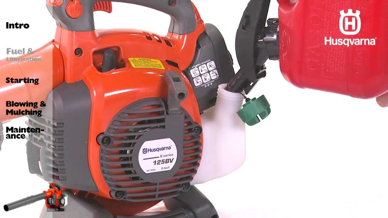 husqvarna handheld blowers fuel lubrication youtube rh youtube com husqvarna 125b parts manual husqvarna 125bvx parts manual