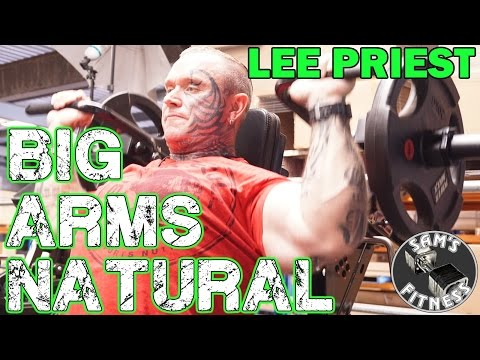 LEE PRIEST Building BIG BICEPS for NATURAL BODYBUILDERS!