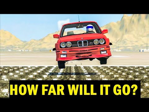 HOW FAR WILL IT GO? #1 - BeamNG Drive Crashes