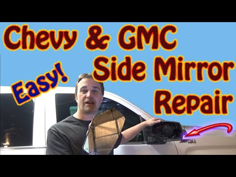 How to Repair a Side Mirror on a GMC Sierra or Chevy Silverado – Mirror Adjustment Motor Replacement