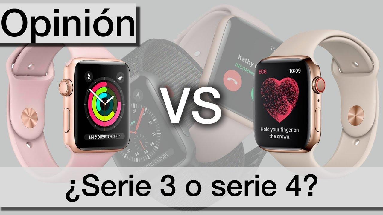 recuperar Consejo Antagonismo  Apple watch serie 4 vs serie 3 ¿Cuál compro? | Opinión - YouTube