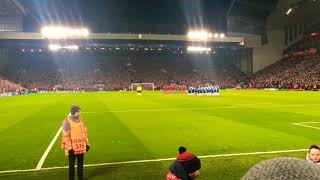 Anfield pays respect to Davide Astori // Liverpool vs Porto UCL