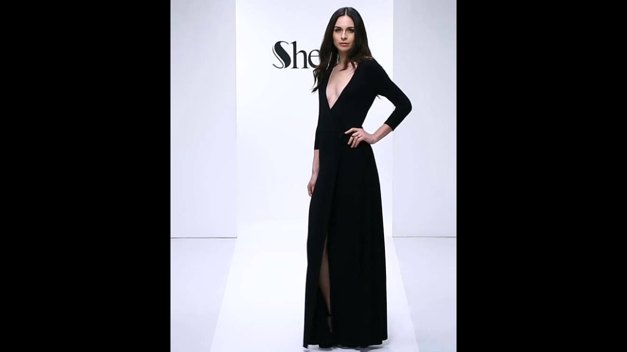 Black Deep V Neck Split Maxi Dress Youtube