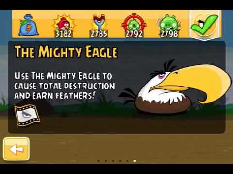 angry birds how to get mighty eagle free