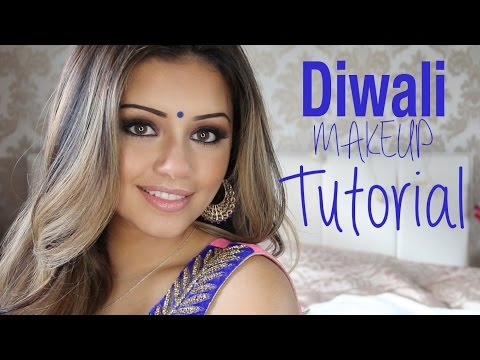 Tutorial | Indian/Diwali Smokey Eye Makeup 2014 | Kaushal Beauty