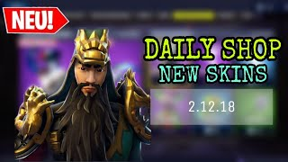 FORTNITE DAILY ITEM SHOP 2.12.18 | NEUER GUAN YU SKIN!!