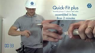 Quick-Fit plus for plenum cables detailed