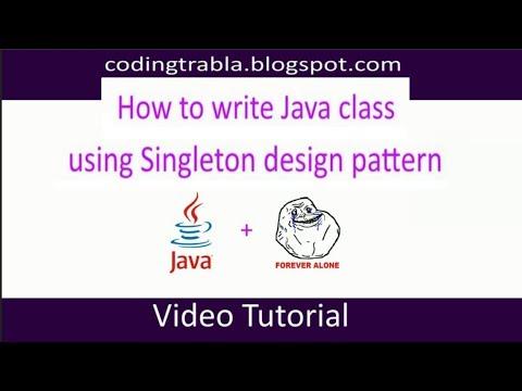 How to write Java class using Singleton design pattern