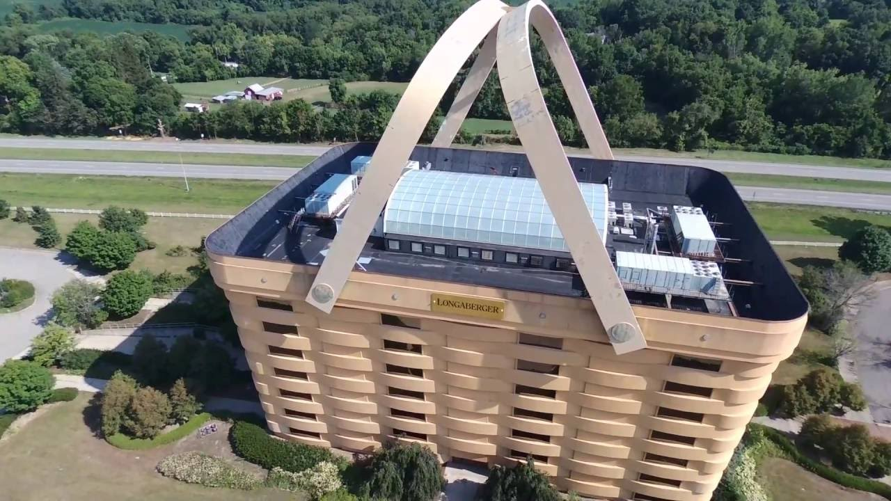 Parrot Bebop 2 Drone Flt 30 07.27.16 Flying Around The Longaberger Basket  Office Building