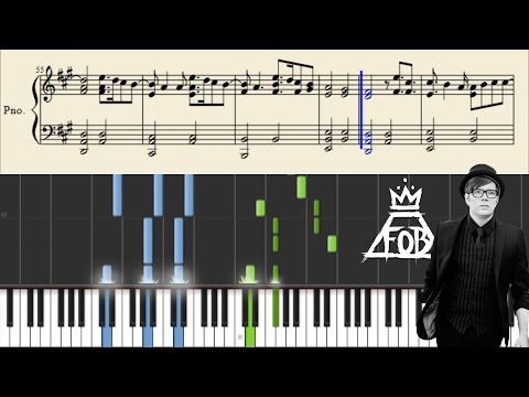 Fall Out Boy - My songs know what you did in the dark (Light 'Em Up) - Piano Tutorial + Sheets