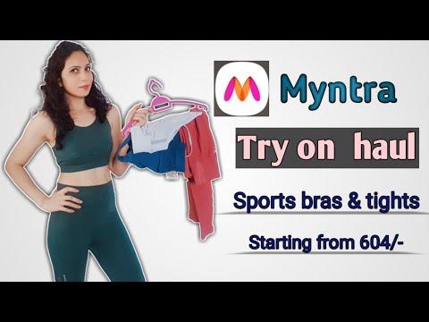 Myntra Sports bra and tight haul starting price range 604 rupees