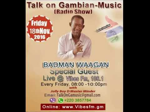 Interview with Badman Waagan Talk On Gambian Music Radio Show