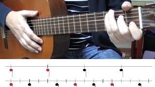Como tocar Ritmo de Samba - Bossa Nova II. Cuándo cambiar (trocar) de acordes (chords).