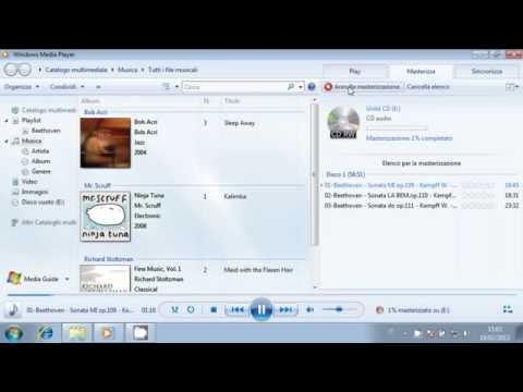 Come masterizzare un CD con Windows 7