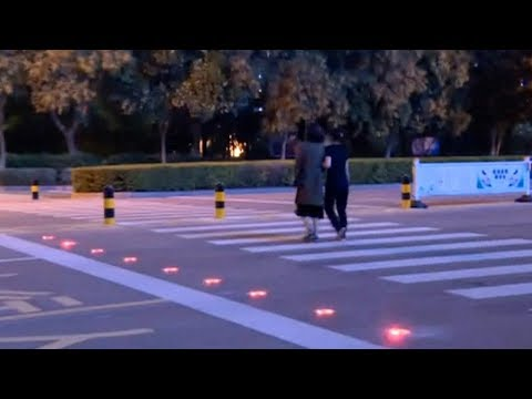 East China city trials 'smart' zebra crossing for road safety