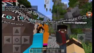 Jogando SkyWars no Minecraft PE e eu encontrei o BetoGamer!!