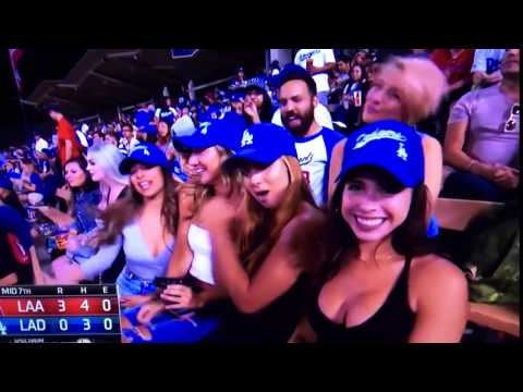 Young Lady with Nice Rack at Dodger Stadium
