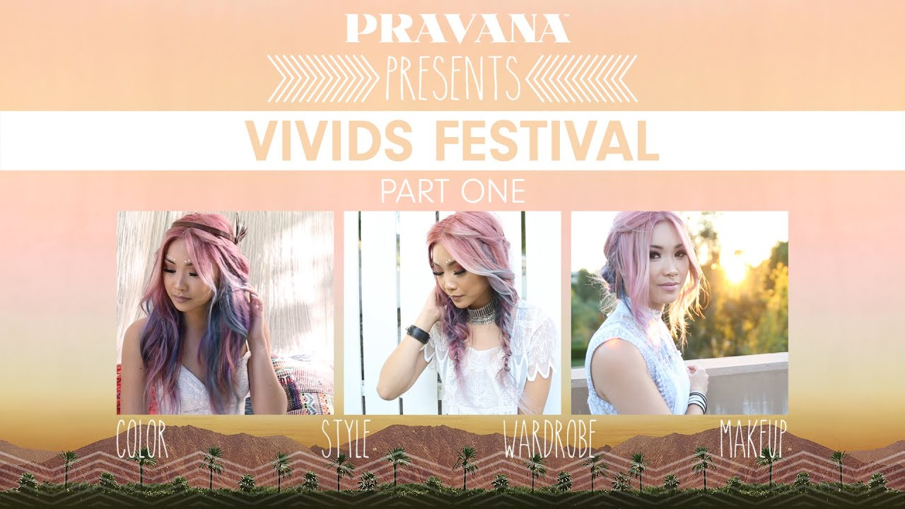 How To Vivids Festival Hair Color By Pravana Pink Purple And Blue