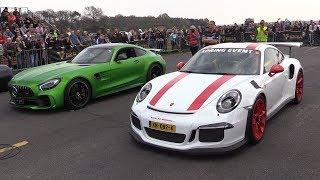 Porsche 991 GT3 RS vs Mercedes-AMG GTR vs Nissan GTR R35