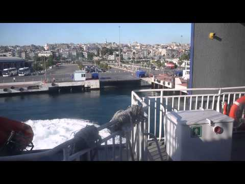 İDO's Fast Ferry Yenikapı (İstanbul) port entry and docking (uncut)
