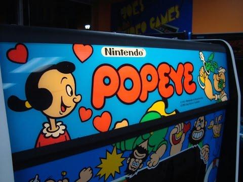 Classic 1982 Nintendo Popeye Arcade Game ! Gameplay, Artwork, Design video!