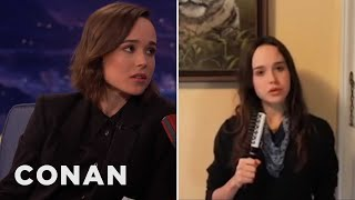 Ellen Page's CONAN Stand-Up Audition  - CONAN on TBS