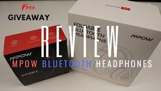 REVIEW - MPOW FOLDABLE BLUETOOTH HEADPHONES + MPOW SPORT WIRELESS EARPHONES