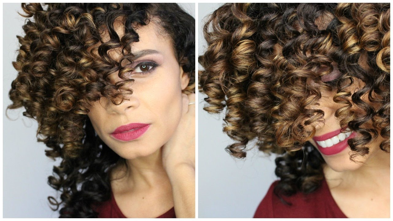 Natural Hair Perfect Curls Using Small Perm Rods On Long Hair Youtube