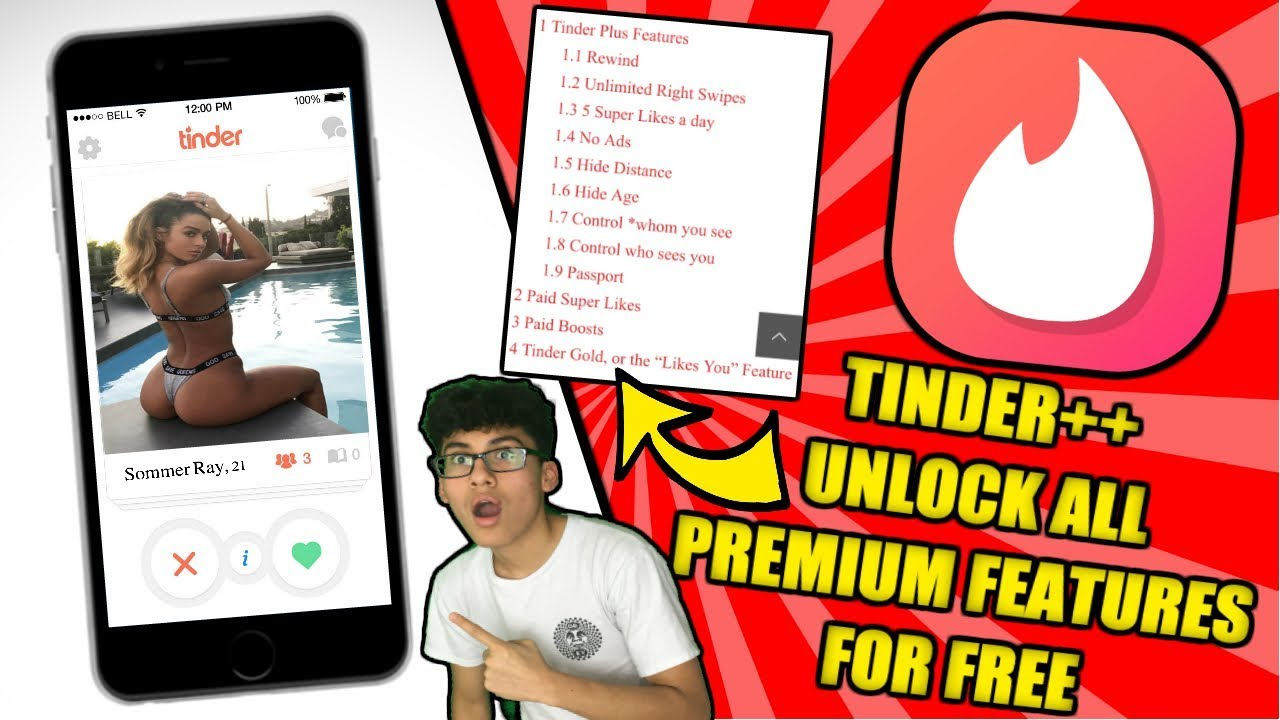 (2019)TINDER++ UNLOCK ALL PREMIUM FEATURES FOR FREE! UNLIMITED SUPER LIKES,  HIDE AGE, & MUCH MORE!