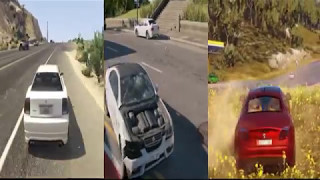 GTA V VS Watch Dogs 2 VS Just Cause 3 || Side By Side View || Comparison