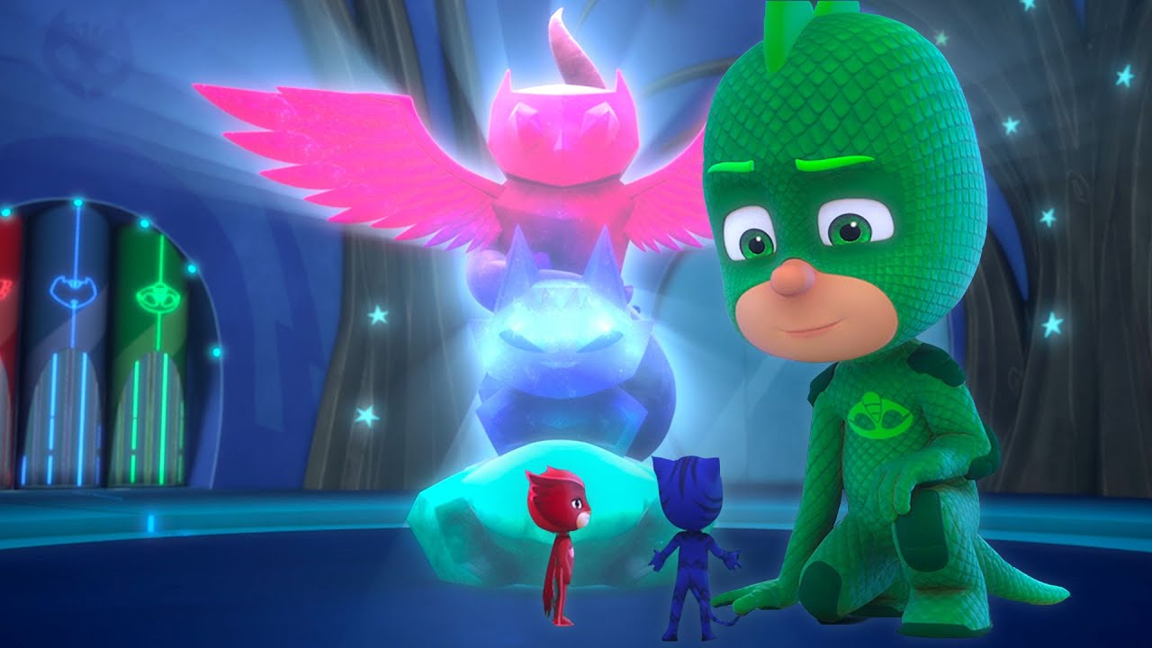 GIANT Gekko meets Tiny Catboy and Owlette   Double Episode   PJ Masks Official