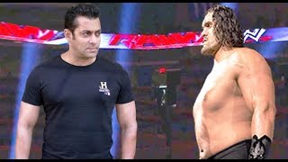 The Great Khali vs Salman Khan Iron Man Match