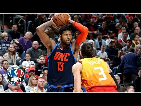 Paul George's 43 points and 14 rebounds lift Thunder over Jazz | NBA Highlights thumbnail