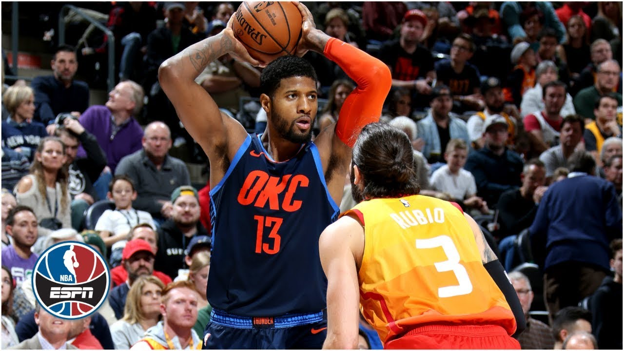 Paul George s 43 points and 14 rebounds lift Thunder over Jazz  67da56d1c