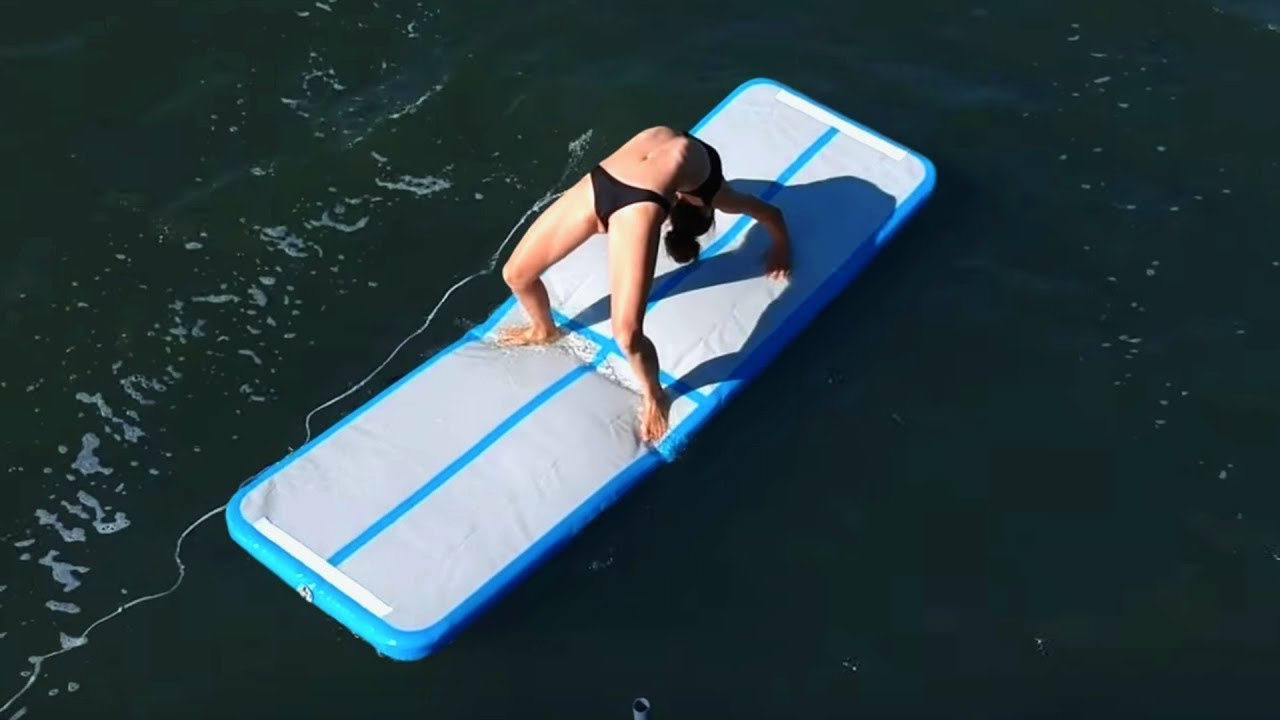 trying-airtrack-gymnastics-on-a-lake
