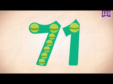 Learn Number 71 In English & Counting, Math By Endless Numbers   Kids Video