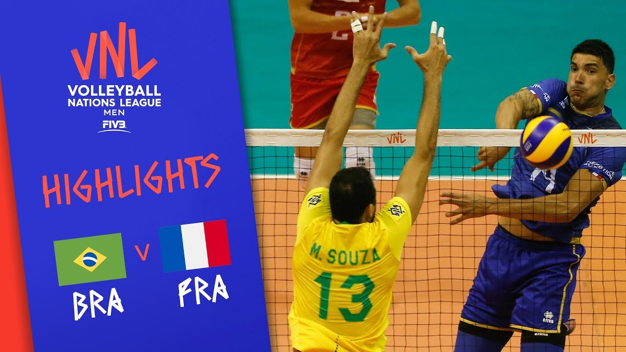 Download BRAZIL vs. FRANCE - Highlights Men | Week 5 | Volleyball Nations League 2019