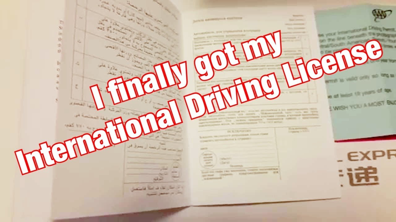 Driving - International Permit Over Youtube License Valid 150 Countries - idp