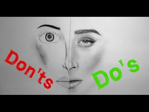 realistic-portrait-drawing:-do's-&-don'ts