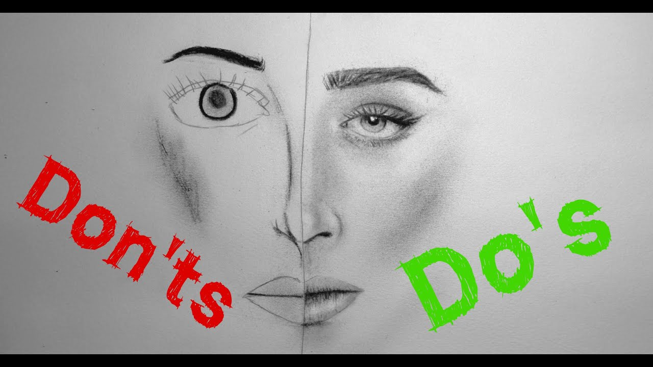 realistic portrait drawing do s don ts youtube